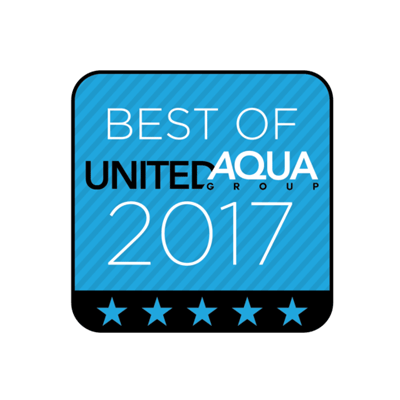 Best of United Aqua Group - Best Residential Fiberglass Pool Project of 2017 Logo