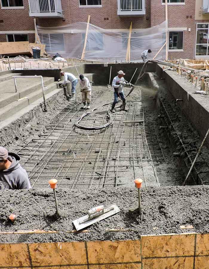 shotcrete pool construction