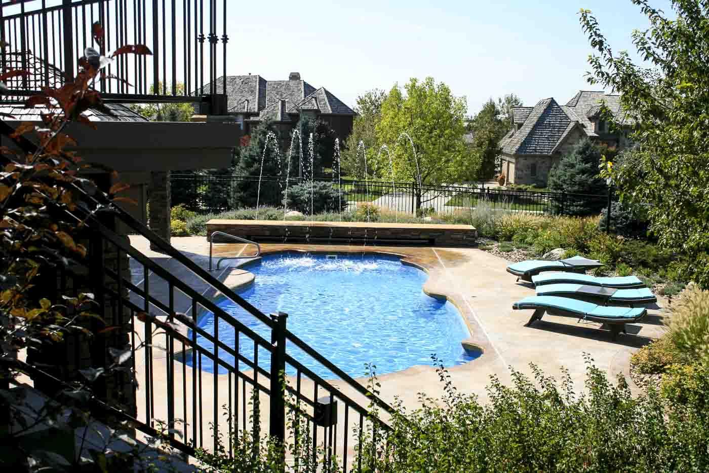 2010 Aquatech fiberglass pool